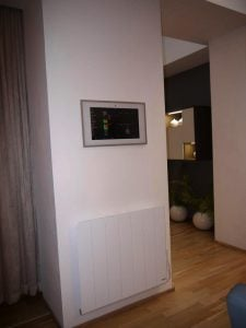 Needo electric radiators gira Knx home automisation