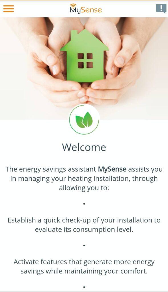 MYSense App for wifi electric radiators energy-saving assistant