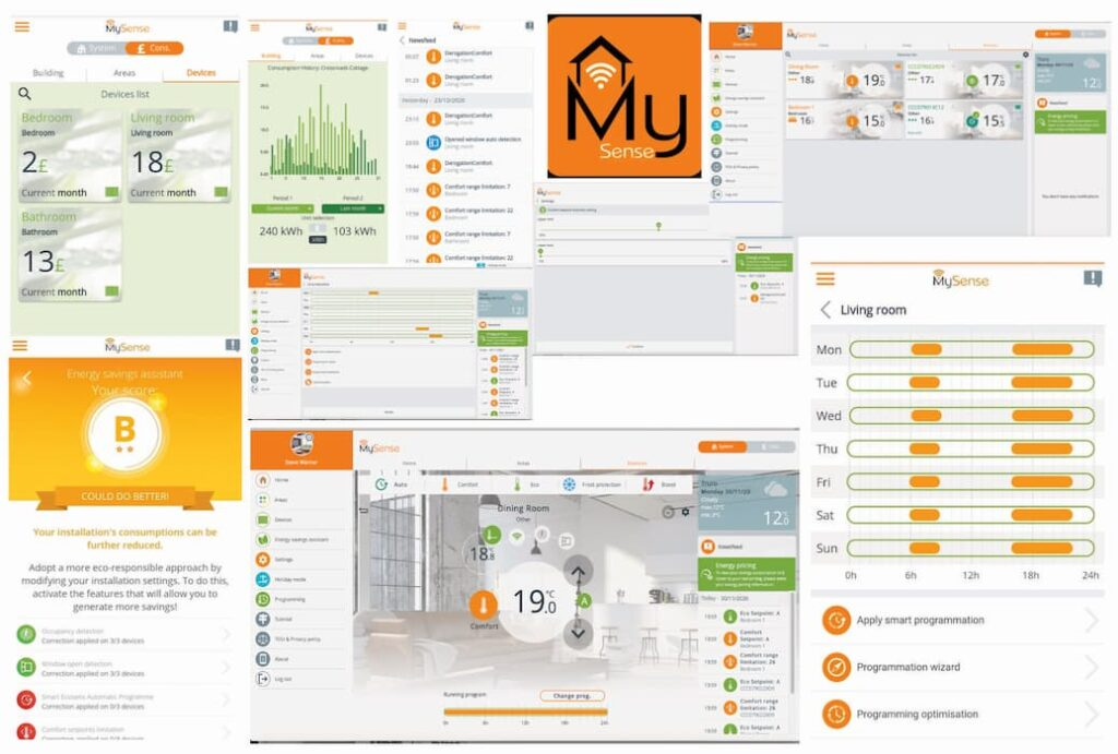 MYSense App features for wifi electric radiators