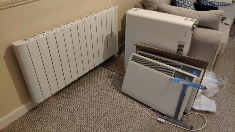 Replacing Storage Heaters with a controllable electric system, picture install 31