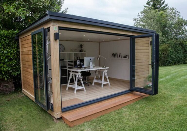 garden office with large room
