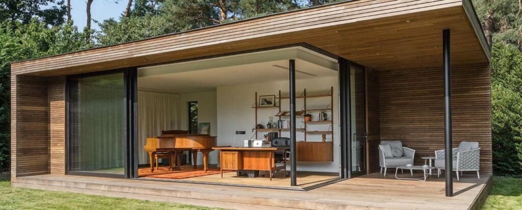 heating for a modern garden office with large room jpg