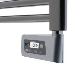 Balneum Ecodesign electric towel rail chrome thermostat