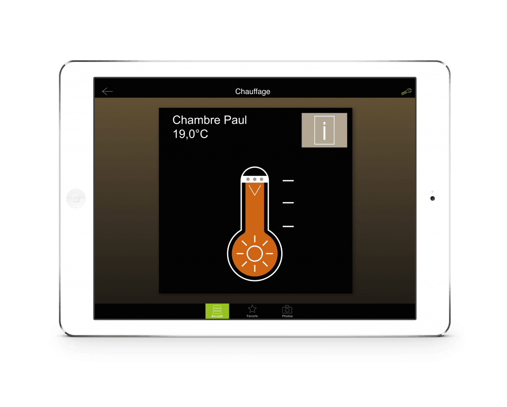 WHAPP electric heating app ipad screen