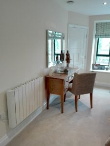 cali Sense smart Electric Radiator living room Installation