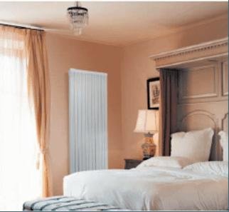 Intelli heat Needo vertical electric radiators install bedroom