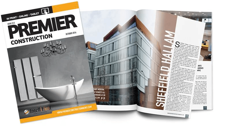 premier construction intelli-heat electric radiators editorial cover magazine