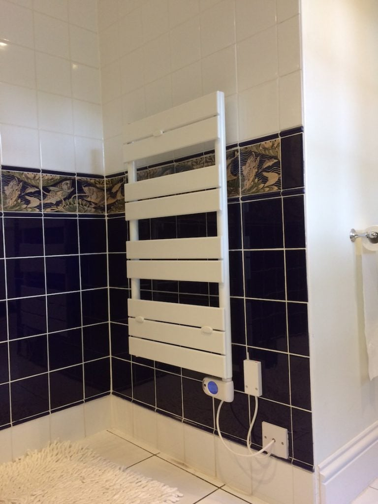 Sophia electric towel rail installation bath