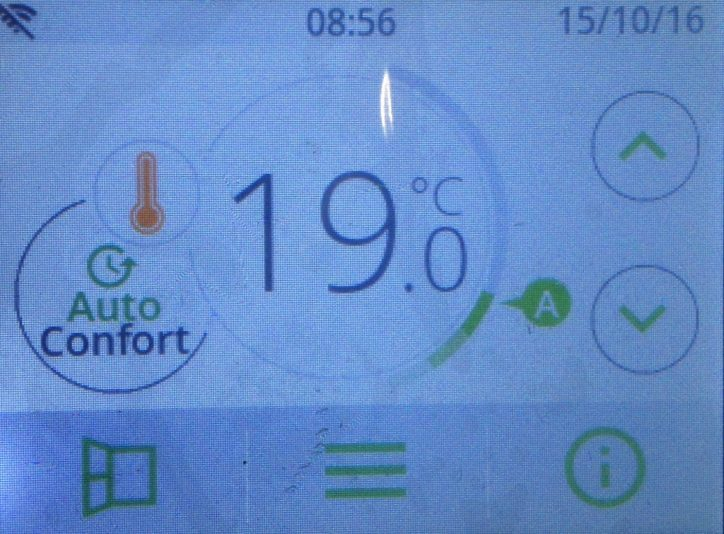 intelli-heat-wifi electric radiator led touch screen thermostat programmer