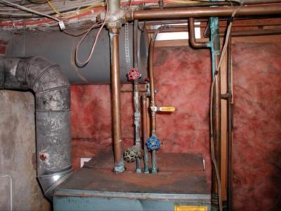 old Gas boiler, how to replace log boiler