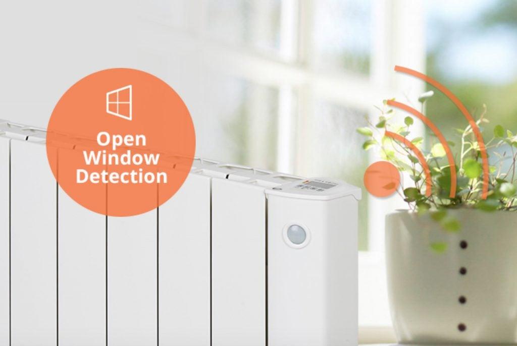 cali-sense-intelli-heat-electric-radiators- open window feature