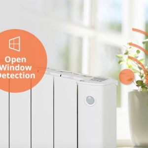 cali-sense-intelli-heat-electric-radiators- open window feature