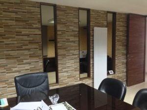 NEEDO Vertical designer radiators office installation