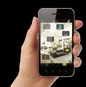 Phone showing Intelli heat electric radiators App